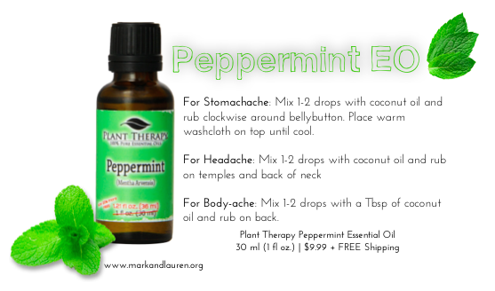 Peppermint Essential Oil for Stomachache Headache and Body Ache