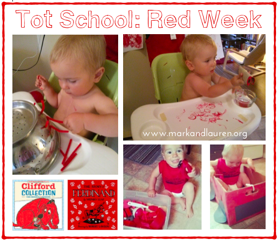 Tot School Red Week markandlauren
