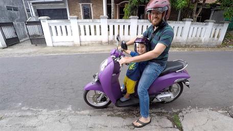 Leo on motorbike